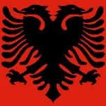 Flag med Albanien motiv fra Klauber-Flag