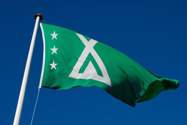 Camping flag med 3 stjerner fra Klauber-Flag