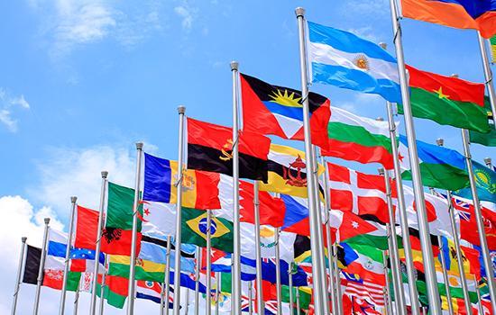 National flag fra hele verden